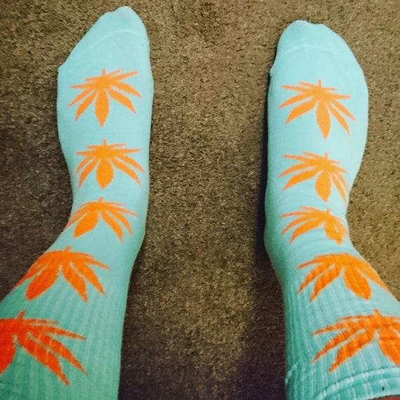 Nowe Produkty najwyższa jakość kup sprzedaż 420, Weed Socks, cannabis socks, Huf socks, Huf weed socks, Gift For him,  Perfect Christmas Stocking Filler - Available In Sizes S, M, L