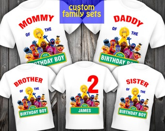 Sesame Street Iron On Transfer Set Family Shirt Birthday Digital Item