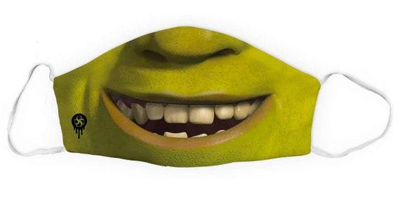 Shrek Face Mask Toddler Kid Size Available Etsy