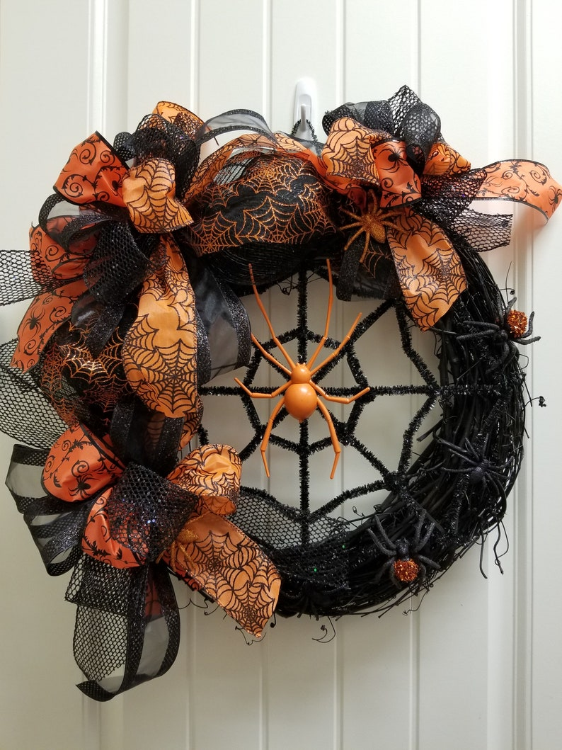 "18""Dia Orange Black Witch With Hat Halloween Festive Door"