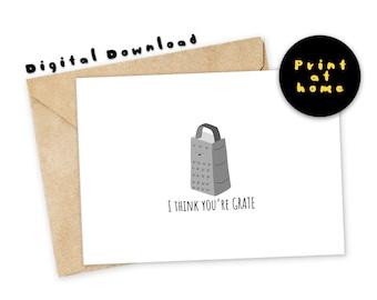 Cheese pun card | Etsy