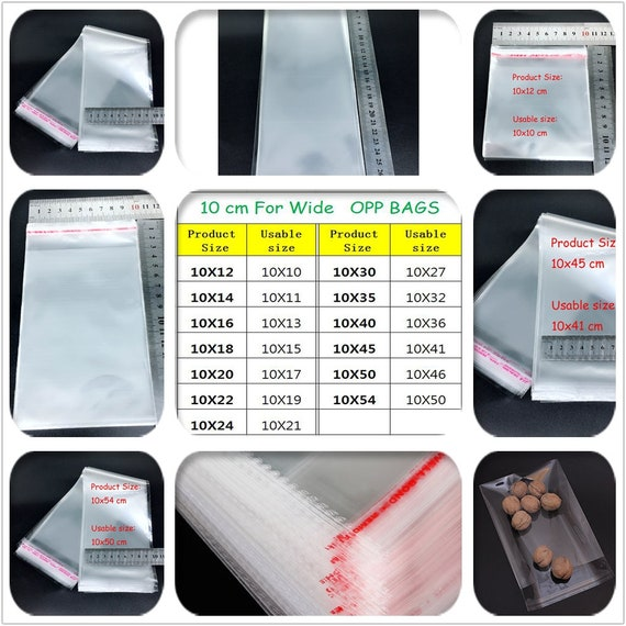 100 Pcs Zipper Plastic Seal Packaging Bag DIY Craft Jewelry Storage OPP Bags