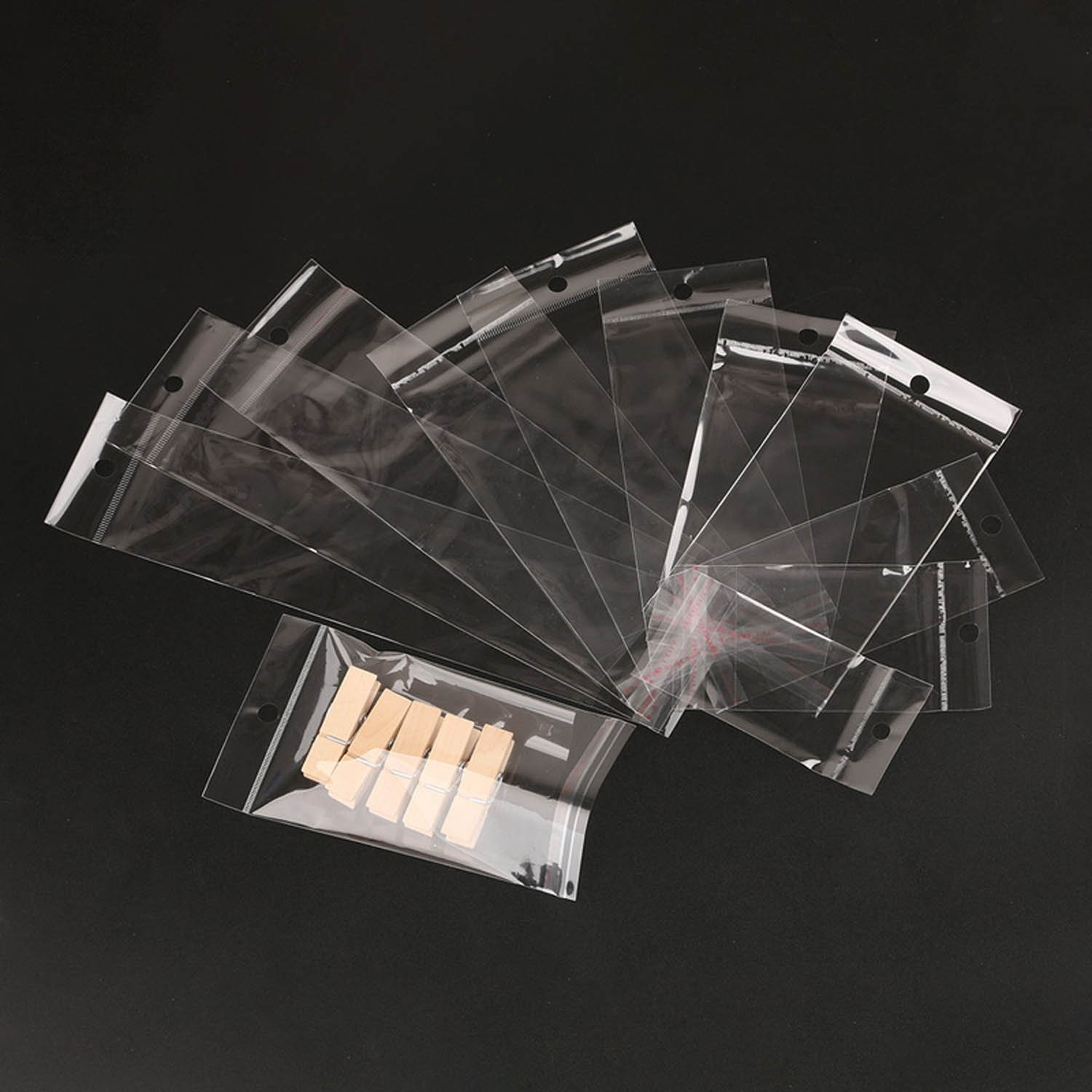 50//100//200PCS Home Storage Bags Resealable Plastic Clear Storage Bag Containers