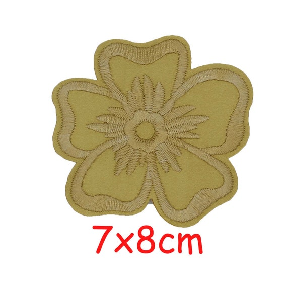 12 colors 7x8cm Colorful Rose Applique Flowers Patch Embroidered Sew on Clothes