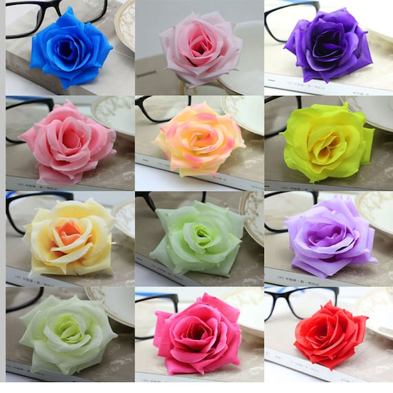 10 20 50 100pcs Silk Flower Heads Wholesale Silk Roses Heads Etsy