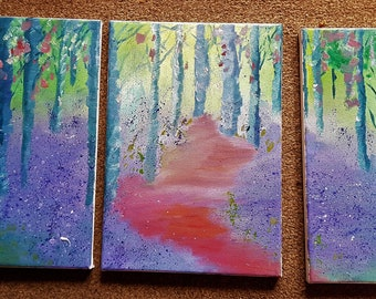 Enchanted Forest Triptych