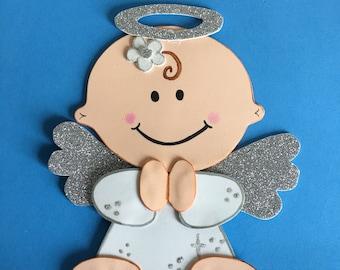 6 Angel centerpieces/Baby shower/Baptism centerpice/First communion/Angel foam