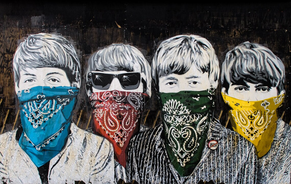 Beatles Bandidos  Graffiti Art Bandanas Handkerchiefs image 2