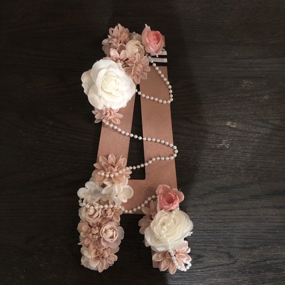 Floral Letters Floral Numbers Nursery Baby Gift Bridal Etsy