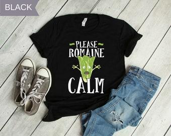 042884674 Funny Lettuce Vegan T-Shirt / Romaine Lettuce Vegetable Food Tee Shirt for  Vegetarian / Plant Based T-Shirt / Unisex T-Shirt
