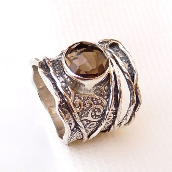 Natural Pink Tourmaline in Quartz Gemstone Latest Jewelry Solid 925 Sterling Silver Adjustable Ring Size 9