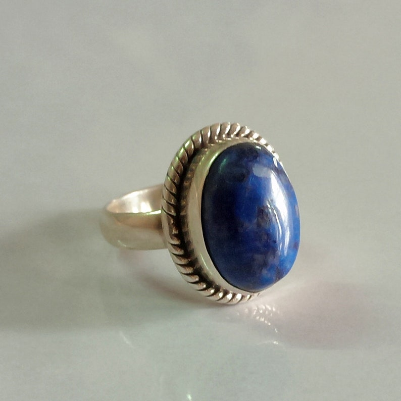 size Lapis lazuli ring 2 to 16 us handmade ring 92.5/% sterling silver ring sterling silver lapis lazuli ring gemstone ring