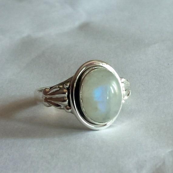 925 Sterling Silver Rainbow Moonstone New Toe Ring Adjustable tr-16
