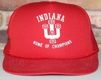 bf1d094a86ede Indiana University Hoosiers Vintage Trucker Style Snapback Hat