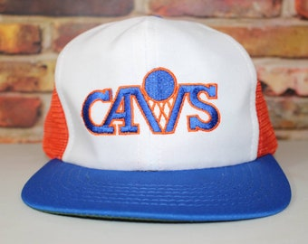 e89b68c774e7e7 Cleveland Cavaliers Vintage Basketball Trucker Style Hat, Deadstock With  Tags Hat, NBA, Basketball, Snapback