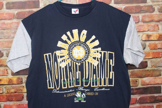 Notre Dame University Fighting Irish Vintage Two Tone Shirt, College Football