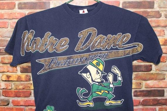 Notre Dame University Fighting Irish Vintage Shirt, Large Print Single Stitch Shirt