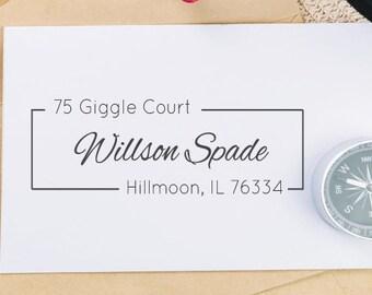 Return Adress Stamp, Self-Inking Address Stamp - Custom Address 26