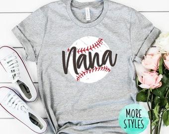 200445163 Nana Grunge Baseball Shirt Baseball Fan Shirt Baseball Women's Shirt  Women's Baseball Shirt Women's Baseball Grunge shirt Baseball Lover