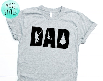 08efd9670 DAD FISHING Shirt Fathers Day Pro Fisher Dad Shirt Dad Love Fish Shirt  Men's Fishing Dad Shirt Funny Fish Shirt Fishing T-shirt Dad
