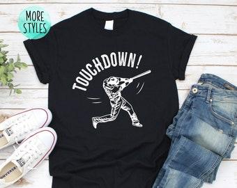2b8020da Baseball Touchdown Baseball Shirt Baseball Lover Baseball Fan Shirt Baseball  Season Baseball Bat Unisex Baseball Shirt Baseball Grunge