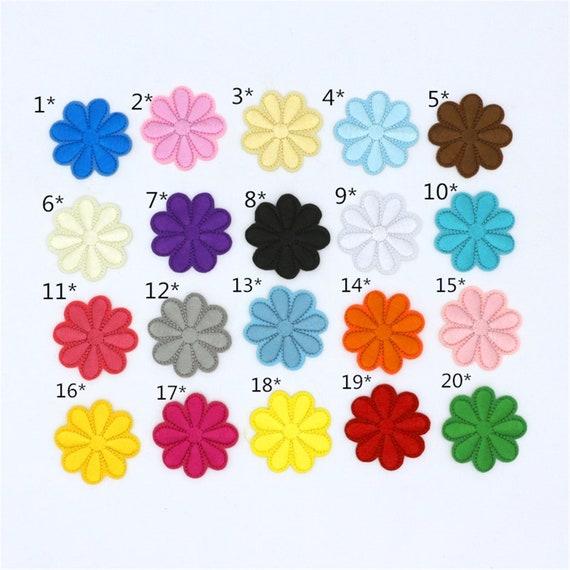 "Purple Daisy Flower Applique Patch 7//8/"" 3-Pack, Mini, Iron on"