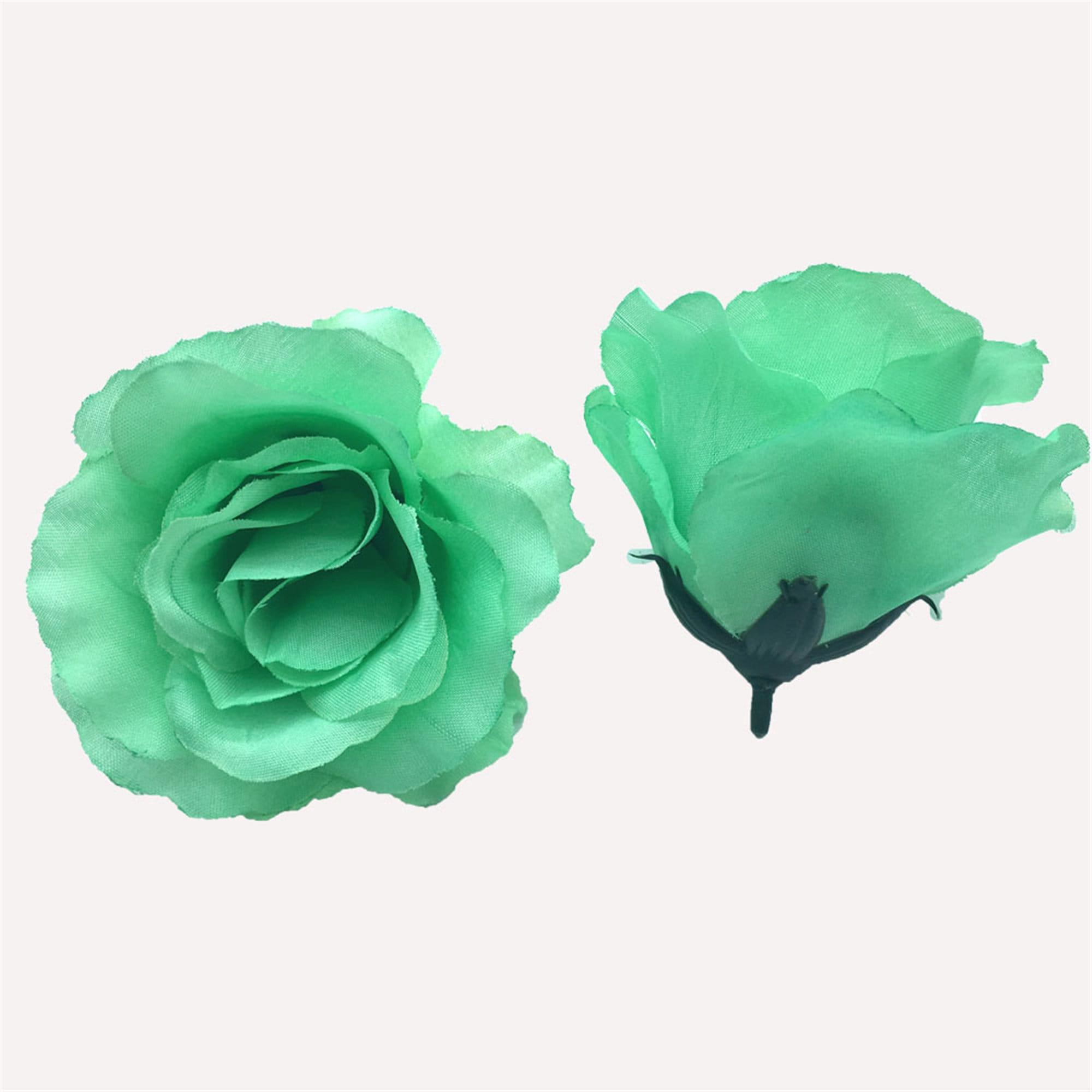 50//100pcs Artificial Fake Flower Silk Rose Heads Bulk Wedding Party Home Decor