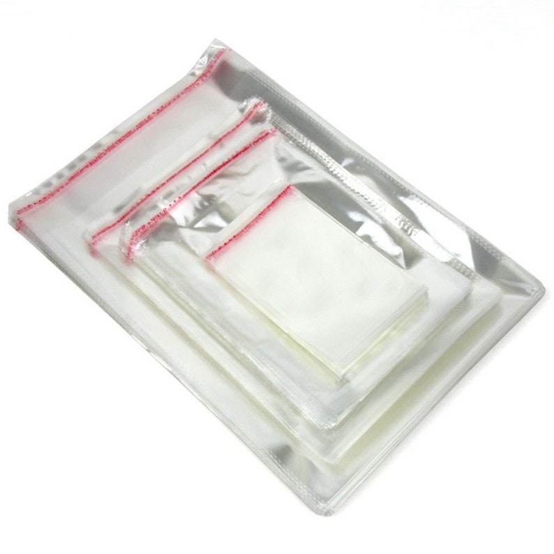 Jewelry Clear Opp Bags Ultra Clear Opp Bags Cello Bag Self Adhesive width 12cm
