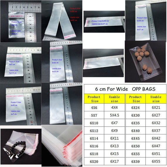 100×OPP Clear Cellophane Cello Bags Display Self Adhesive Peel And Seal Plastic