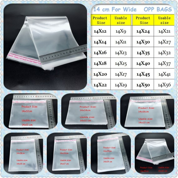 """Different Lengths Available Cellophane Display Bag 8/"""" x"""