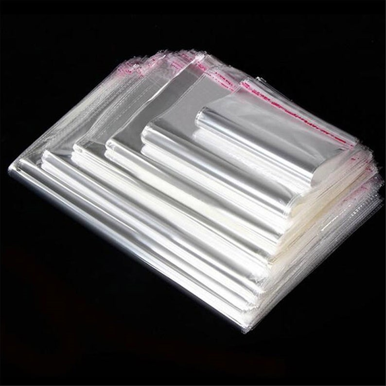 300 1.5 mil Self Sealing Peel /& Seal OPP Card Clear Plastic Cellophane Cello Bag