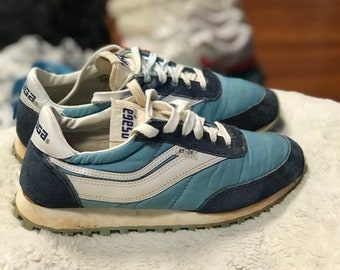 Vintage Orignal 1979 Osaga KT-26 Running Shoes Blue Size 7 1/2