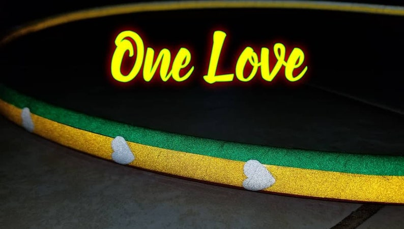 One Love Power Specialty Reflective Taped Hoop