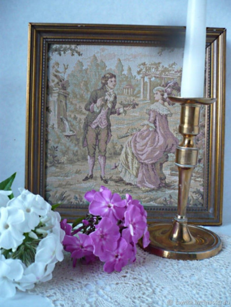 Antique brass candle holder from Germany
