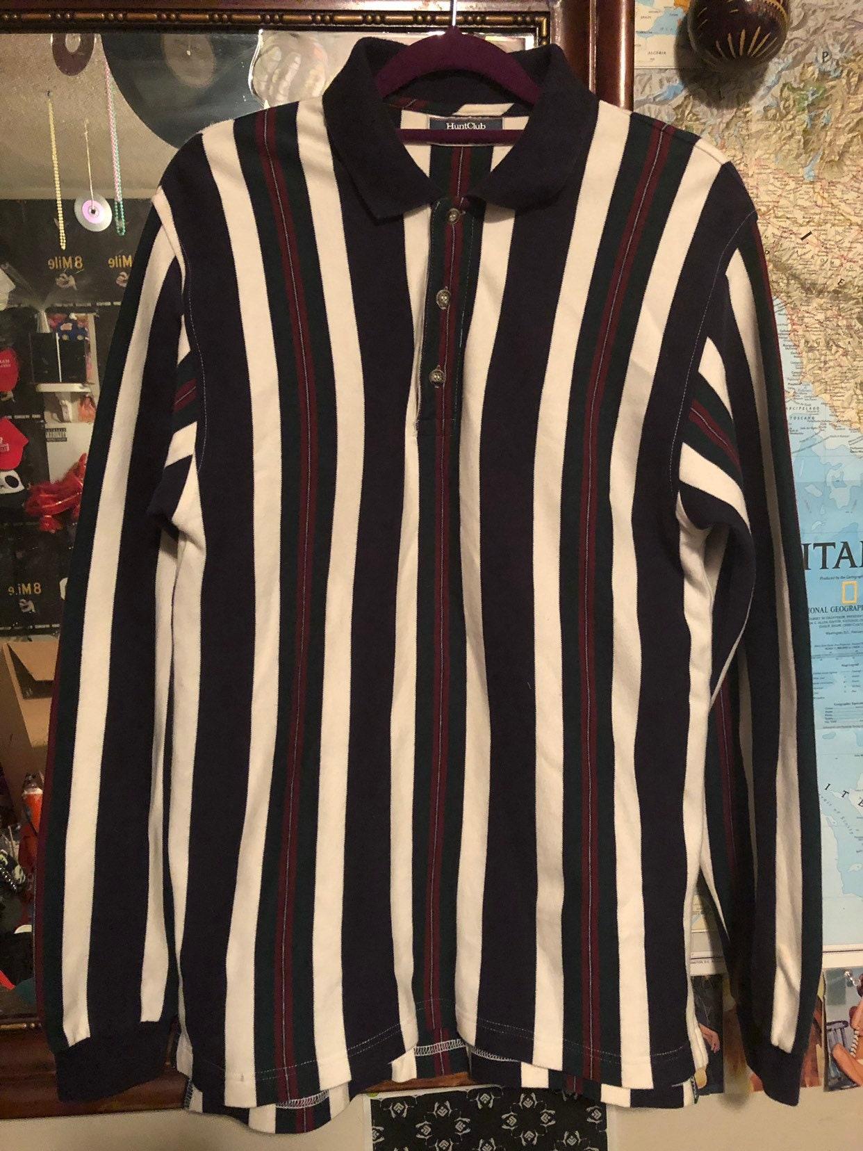 445dcbab6166 Mens Vintage Hunt Club Striped Dress Shirt   Etsy