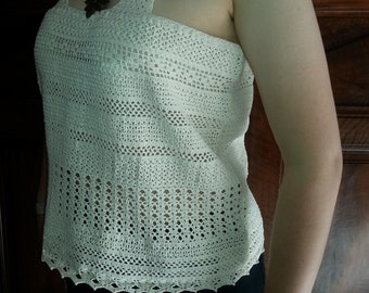 Pure cotton tank crochet (handmade)