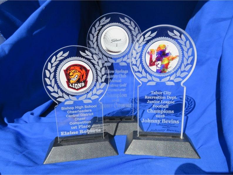 b338992fcf18 Custom Acrylic Trophy Personalized trophy Acrylic award