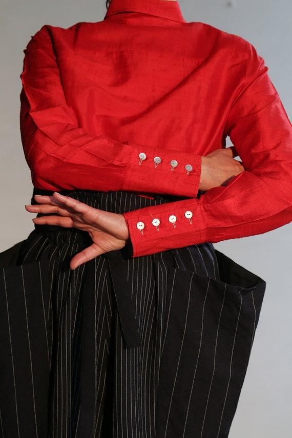 Vintage Italian raw silk blouse