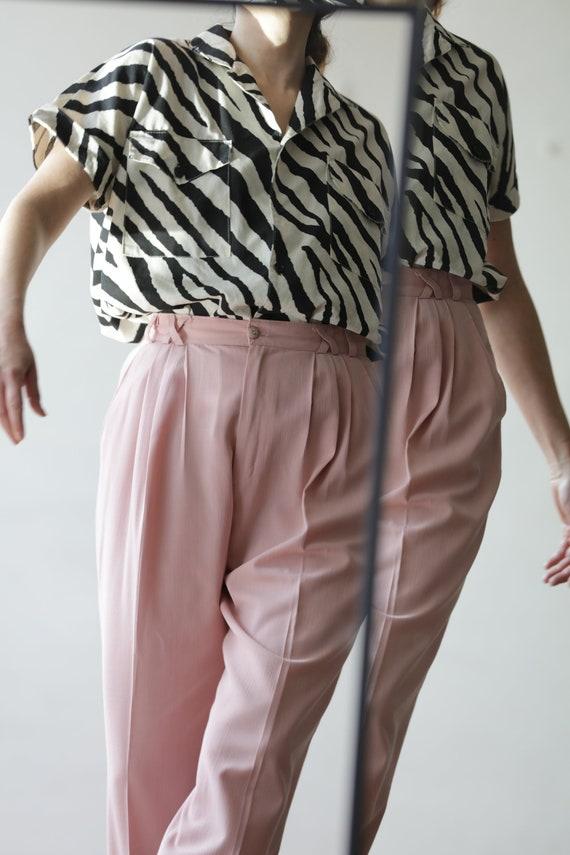 Zebra Print vintage 80s blouse