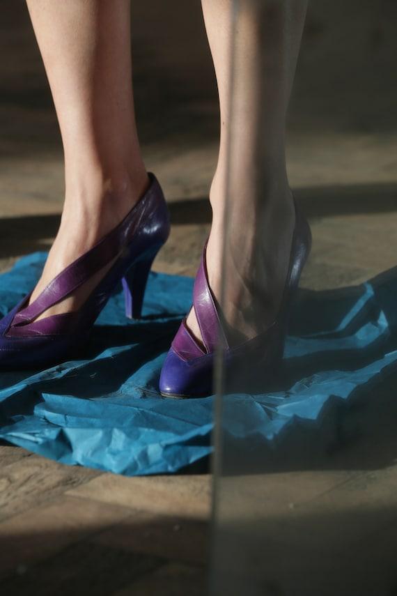 Dior Vintage 1980s purple  shoes