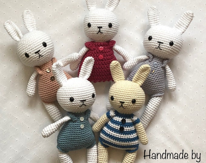 Lucy the Bunny handmade by Omanel