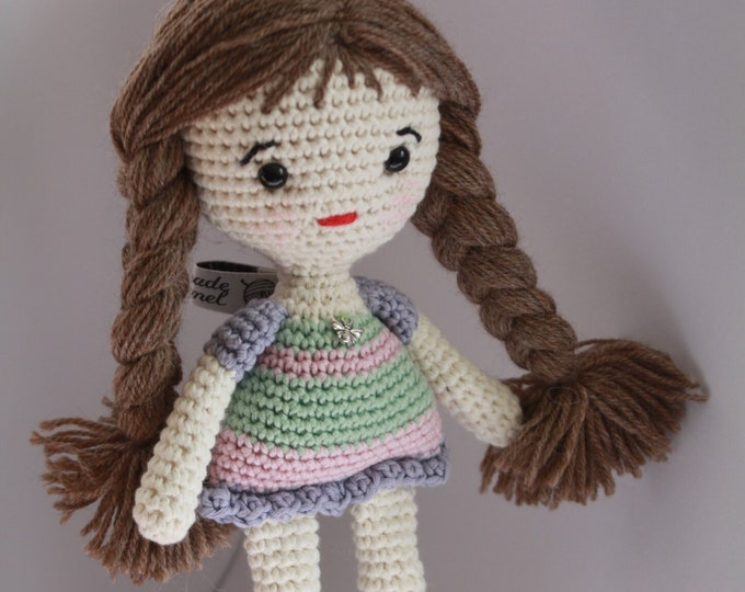 Doll with Striped dress