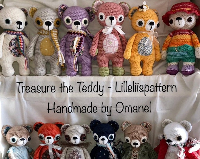 Treasure the Teddy Girls and Boys - Handmade by Omanel