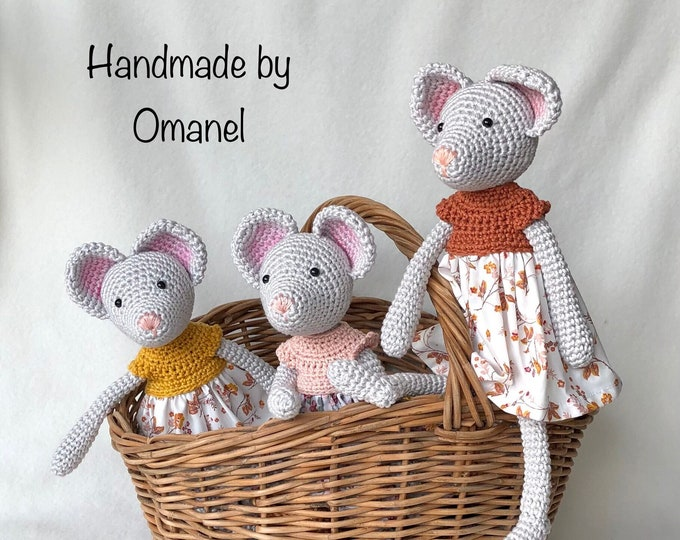 Little Mice 28 cm Handmade by Omanel