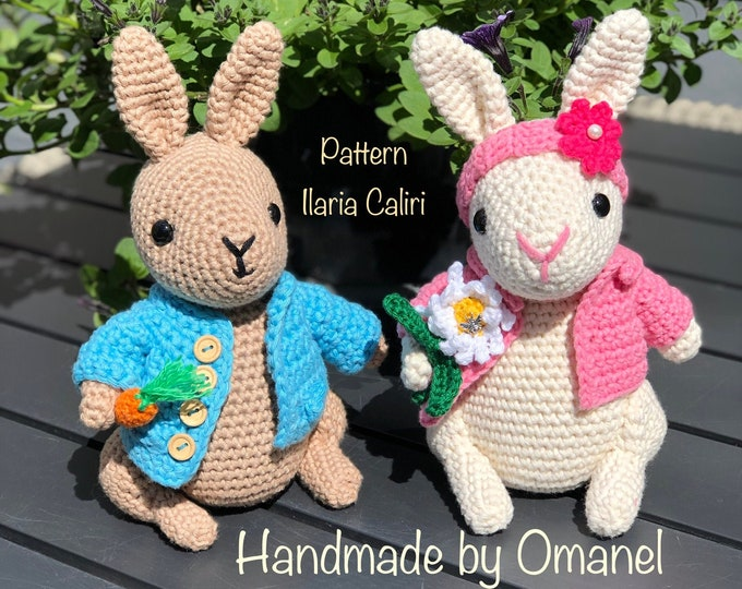 Peter and Lizzy as set - Handmade by Omanel