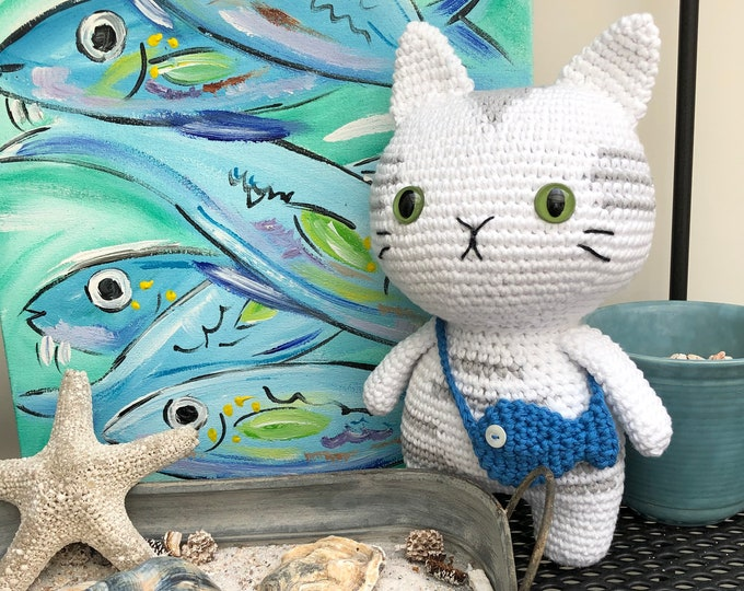 Silver Tabby Cat handmade by Omanel