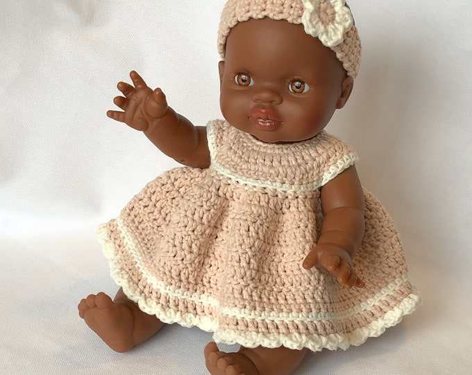 Paola Reina Doll Dress Crocheted- Handmade by Omanel