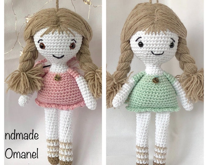 Christmas Angel Little Angel Doll with pink or mint glitter dress