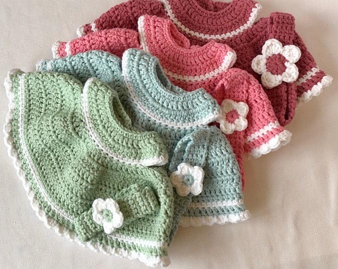 Doll's dress -crocheted- suitable for Poala Reina Gordi baby dolls.