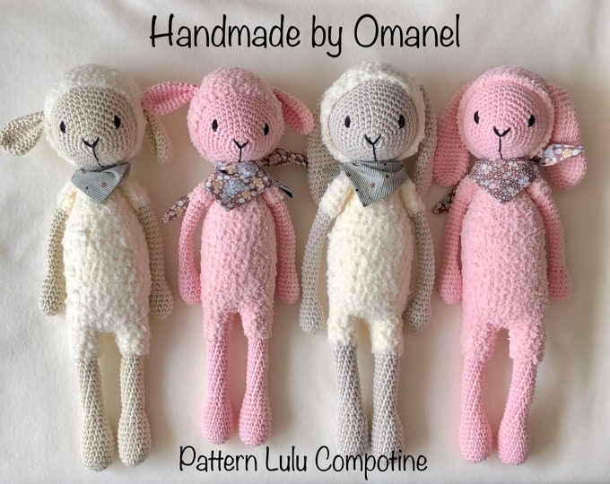 Corentin the Bunny and Gaston the Sheep - Handmade by Omanel